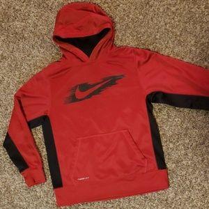 Boy's Nike red hoodie